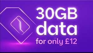 BT mobile 30gb data, unlimited texts and calls £12 a month / 24 months at BT (British Telecom)