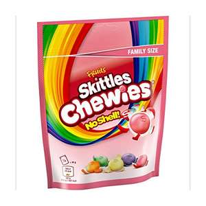Skittles Chewies Fruits Sweets, Family Size Pouch, 176 g £1 (+£4.49 Non Prime) 85p/95p s&s @ Amazon