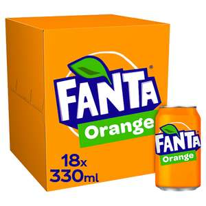 Fanta Orange 18 x 330ml can pack - £5.50 (£15 Min Spend for Online Delivery) at selected stores @ Co-operative
