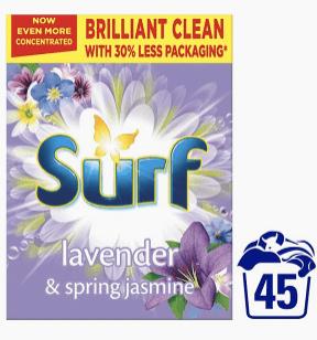 Surf Lavender and Spring Jasmine (45 washes) Washing Powder for £3.99 instore @ Home Bargains (Hounslow)