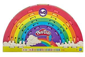 Play-Doh Ultimate Rainbow 40 Pack of Non-Toxic Colours £10 Free click & collect @ Asda