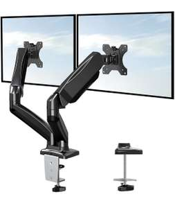 Eono Dual Monitor Arm Desk Mount Adjustable Gas Spring PC Monitor Stand
