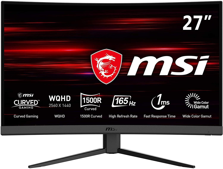 """MSI Optix G27CQ4 27"""" WQHD VA FreeSync 165Hz Curved Gaming Monitor, £250.17 at buyitdirectdiscounts/ebay"""