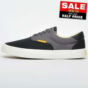 Jack & Jones Mork men's low casual plimsoll trainers in black & grey canvas for £19.99 delivered using code @ eBay / Express Trainers