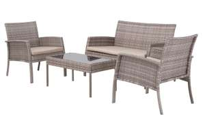 Argos Home Lucia 4 Seater Rattan Effect Sofa Set Grey £200 - Free Click and Collect @ Argos / Argos in Sainsburys - Limited Stock