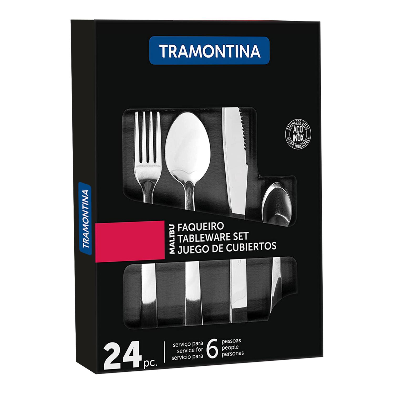 Tramontina 24 piece Stainless Steel 'Malibu' Cutlery Set - £10.00 @ Weeklydeals4less