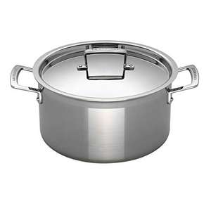 Le Creuset 3-Ply Stainless Steel Deep Casserole with Lid 24cm - £89.20 at Amazon