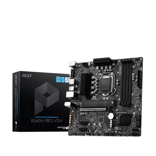 MSI B560M PRO-VDH Micro-ATX Gaming Motherboard (10th/11th Gen Intel Core, 2x M.2 Slots, USB 3.2 Gen 2 Type-A, 2.5G LAN) - £97.99 @ Amazon