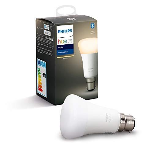 Philips Hue White Single Smart Bulb LED [B22 Bayonet Cap] with Bluetooth. £9 prime / £13.49 nonPrime at Amazon