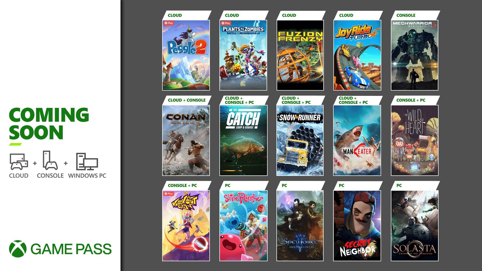 Xbox Game Pass Additions - Maneater, Plants vs. Zombies: Battle for Neighborville, MechWarrior 5: Mercenaries & More