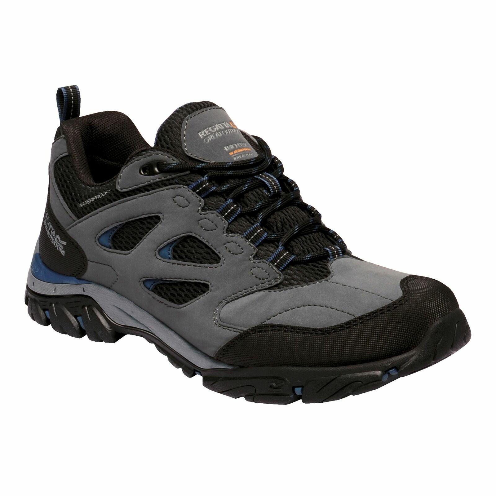 Regatta Men's Holcombe IEP Waterproof Low Hiking Shoes in granite / dark denim for £37.04 delivered using code @ eBay / Regatta
