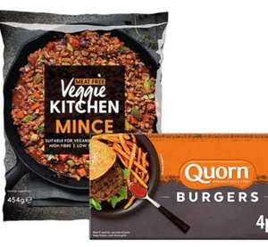 Quorn Burgers 4 Pack are 79p @ Farmfoods