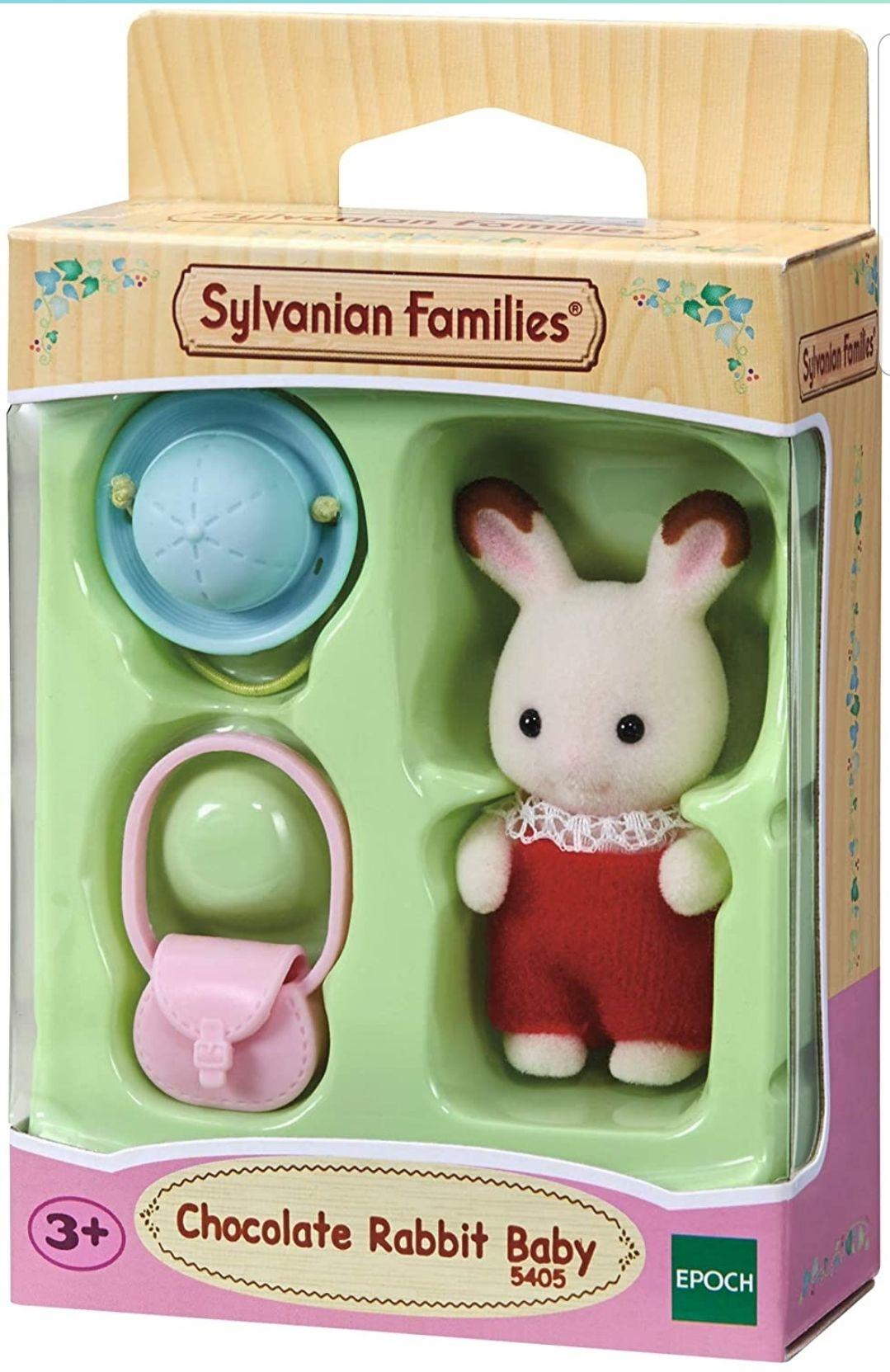Sylvanian Families 5405 Chocolate Rabbit Baby Figurine @ Amazon