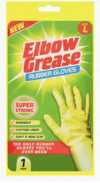 Elbow grease size large rubber gloves - 20p instore @ Asda (Eniskillen)