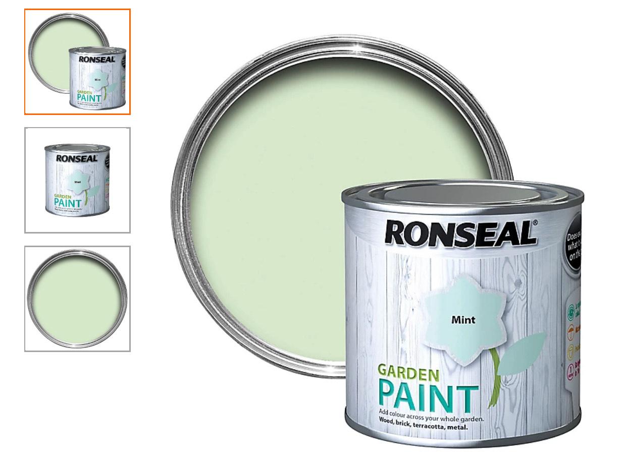 Ronseal Garden Mint Matt Metal & wood paint, 250ml - £2 (Limited Availability / Free Click+collect) @ B&Q