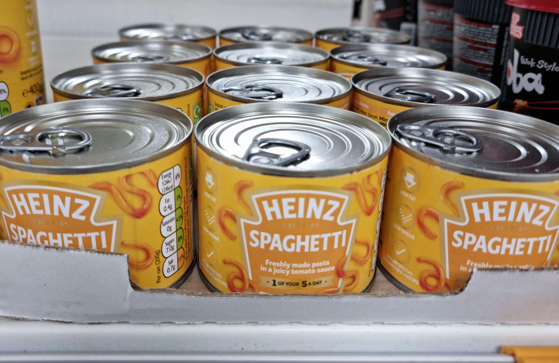 Heinz Spaghetti in Tomato sauce 19p instore @ Tesco, Leicester
