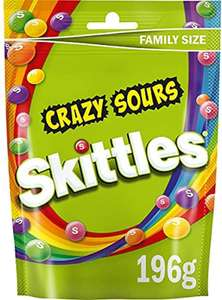 Skittles Sweets, Crazy Sours Sweets, Family Size Pouch, 196g £1 (£4.49 p&p non prime) 85p/95p s&s @ Amazon
