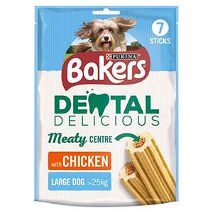 Bakers Dental Delicious Large Dog Chews Chicken 270g (Case of 6) £7.50 + £4.49 delivery non Prime