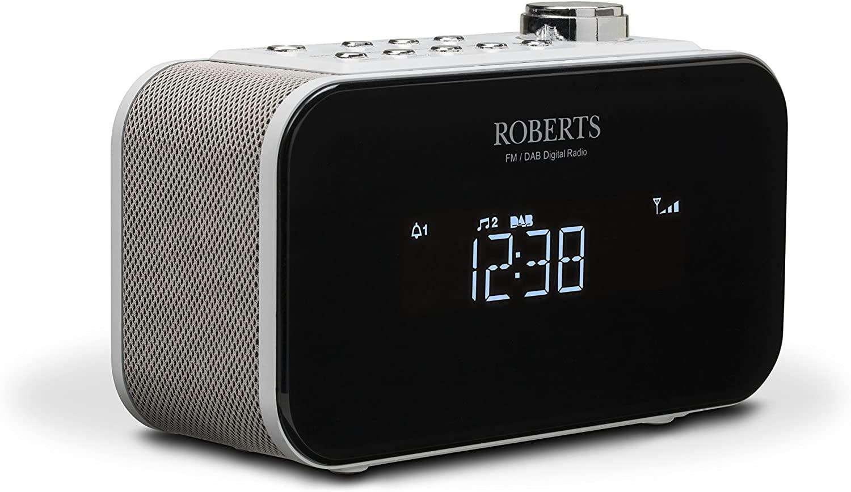 Roberts Radio DAB+ Alarm Clock Radio with USB Smartphone Charging - White - £64.92 @ Amazon