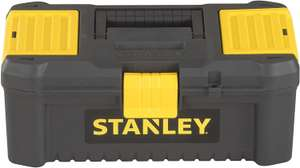 """Stanley STST1-75514 """"Essential"""" 12.5"""" Toolbox with Plastic Latches, Black/Yellow - £6 (+£4.49 non prime) @ Amazon"""