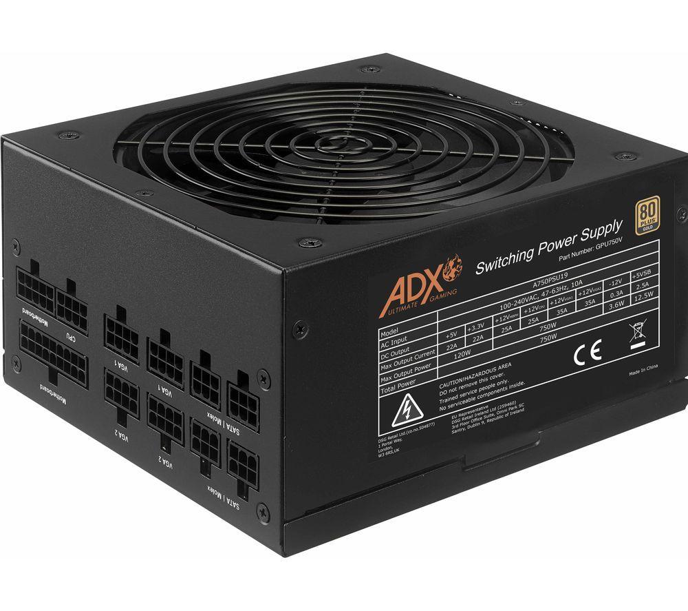 ADX Power W750 Fully Modular 80+ GOLD 750W ATX PSU - £61.99 (10 years warranty) at Currys PC World