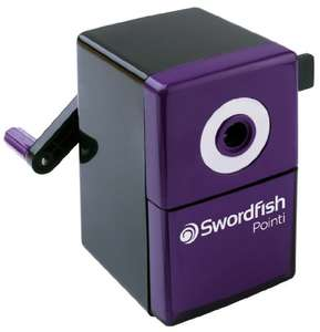 Swordfish 'Pointi' Desktop Manual Pencil Sharpener with Helical Blade and Auto Stop Function £4.48 (Prime) + £4.49 (non Prime) at Amazon