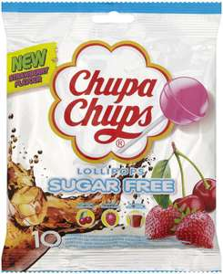 Chupa Chups Fruity Lollipops multipack sugar free 12 bags (Pack of 120) £9.37 (£4.49 p&p non prime) £7.96/£8.90 s&s @ Amazon