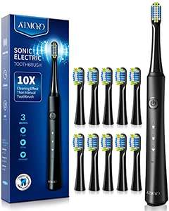 Sonic Toothbrush with 40000VPM 10 Brush Heads with 3 Modes for £14.99 (+£4.99 non prime) sold by MLBecommerce and Fulfilled by Amazon