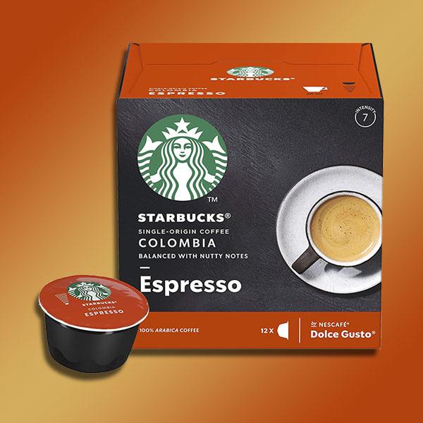 72 X Starbucks Colombia Espresso Coffee Dolce Gusto Pods £12 @ Yankee Bundles