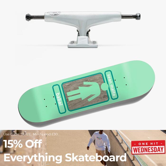 15% Off Full Price Skateboarding £30+ Spend - EG: Tensor Mag Light Trucks £53.51 / Girl Pop Secret Deck £63.71 (UK Mainland) @ RouteOne