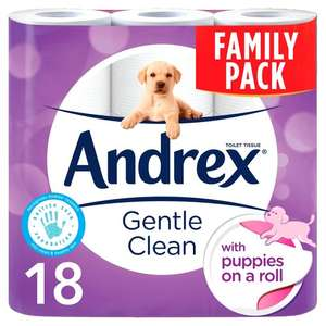Andrex Gentle Clean 18 Roll Pack £5.50 @ One Stop