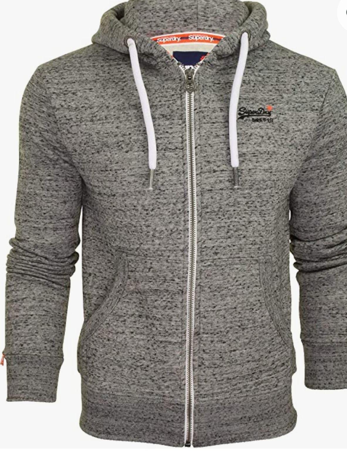 Superdry Men's Orange Label Ziphood Hooded Sweatshirt in XS or S - £35 at Amazon