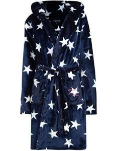 Women's Soft Fleece Starry Robe Dressing Gown with Hooded ears £13 + £1.99 Delivery (Free on £30 Spend) from Tokyo Laundry