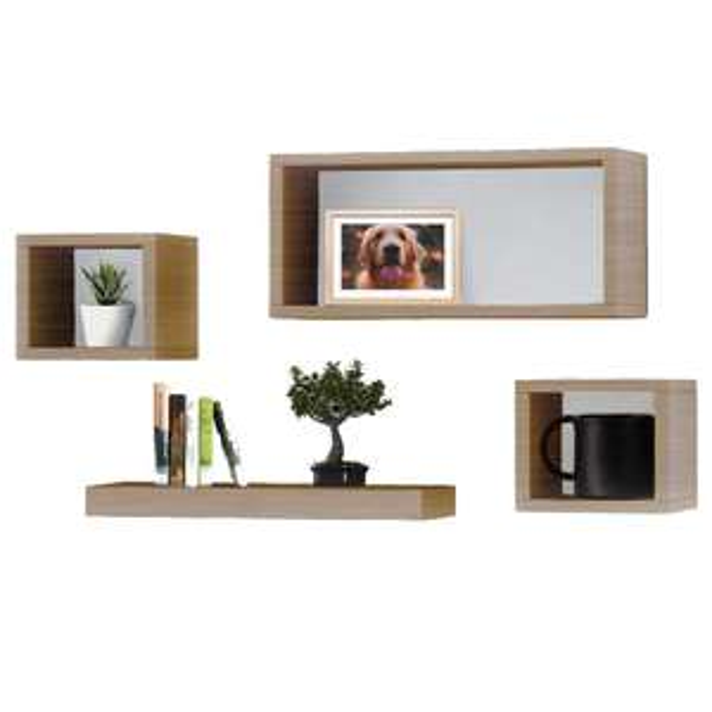 Set of 4 Compact Wooden Floating Shelves for £10 delivered @ Weeklydeals4less