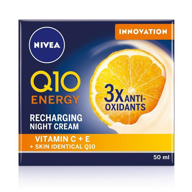 Nivea Q10 Energy Recharging Night Cream 50ml £6.25 @ Sainsbury's