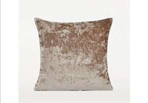 Crushed Velvet Cushion £3.50 click and collect at George (Asda George)