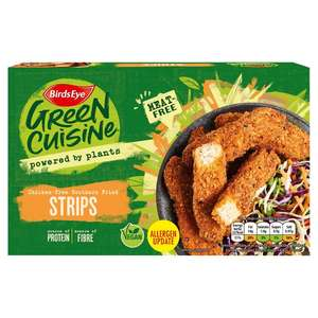 Birds Eye Green Cuisine Meat Free southern fried Strips 99p Farmfoods Middlesbrough.