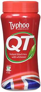 Typhoo QT Instant Black Tea with Whitener 225 g (Pack of 6) £6.67 / £6.34 S&S (Prime) + £4.49 (non Prime) at Amazon