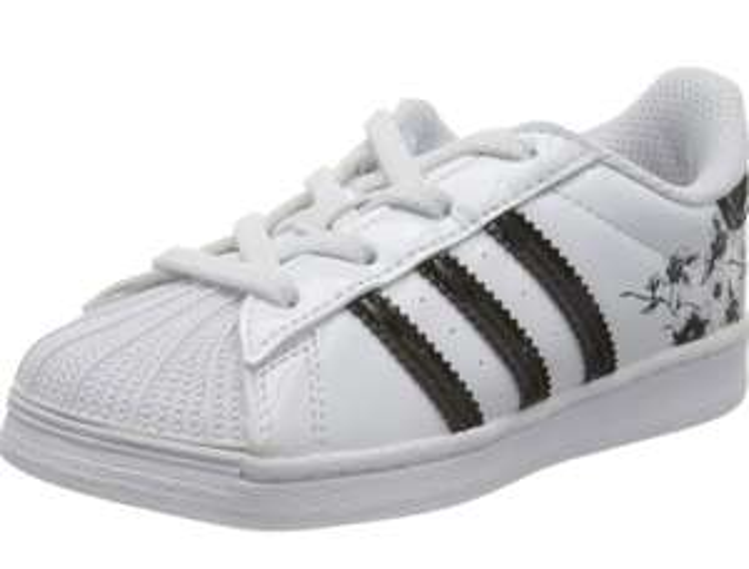 Adidas kid's superstars el gymnastics shoes - size 8.5 now £12.11 (+£4.49 Non-Prime) at Amazon