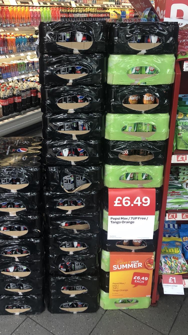24 x pepsi Max / Diet 7Up / Tango Orange - £6.49 instore at Spar (Westhoughton)
