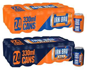IRN-BRU/IRN-BRU XTRA Fizzy Drink Cans, 330 ml, (Pack of 24) £7 @ Amazon (£4.49 p&p non prime) 10% voucher & 10% / S&S £5.60