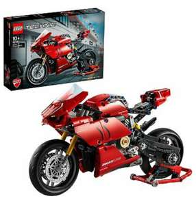 LEGO Technic 42107 Ducati Panigale V4 R Motorbike, Collectible Superbike Display - £35.99 with code at eBay / essential-appliance