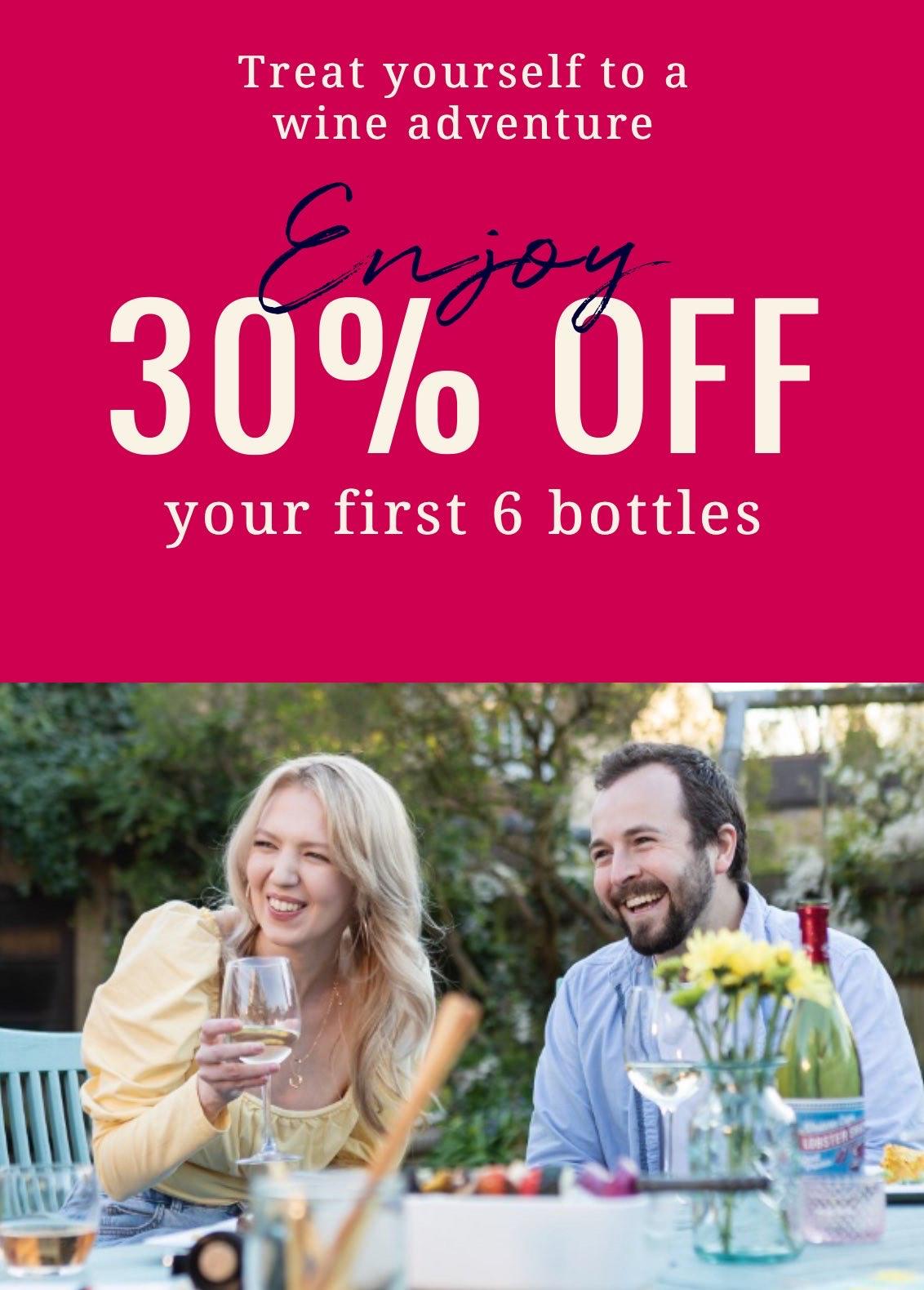 30% off 6 or more bottles of Wine @ Laithwaites