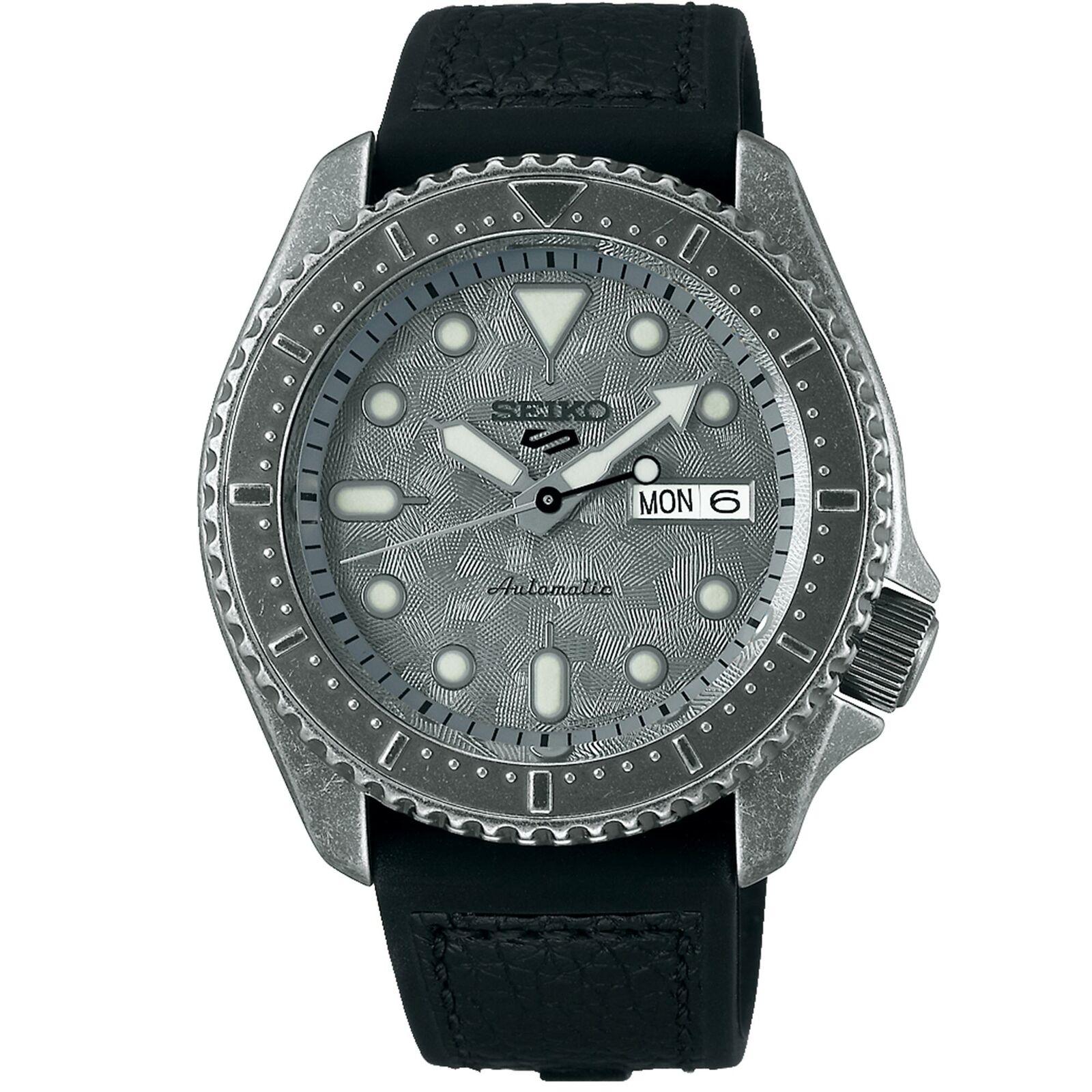 Seiko 5 Sports 42mm 'Aged Patina' SRPE79K1 Black Leather Strap Men's Watch 4R36 100M WR, £246.05 With Code @ watchnationshopltd/ebay