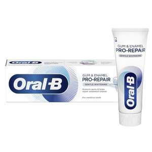 Deal Stack - 6 x Oral B Enamel Repair Or Sensitive 75ml Toothpaste & 2 Free Hand Gels £7 - Free Click & Collect @ Superdrug