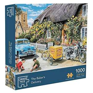 Corner Piece Puzzles Jigsaw 1000 Pieces Premium Quality The Bakers Delivery - £10.23 (+£4.49 Non Prime) @ Sold by NE1 Amz and FBA