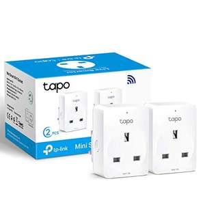 2-Pack TP-Link Tapo Smart Plug Wi-Fi Outlet, Works with Alexa/Google - £15.99 (+£4.49 non prime) at Amazon