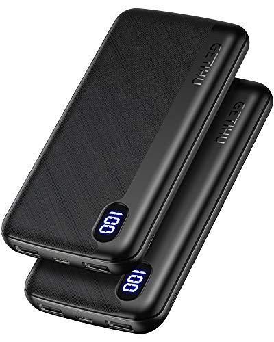 GETIHU Power Bank [2 Pack] USB C Triple 2.4A High-Speed 10000mAh £15.98 (+£4.49 np) Sold by TopStar GETIHU Accessory & FB Amazon