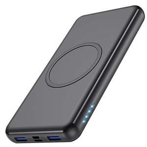 Wireless Power Bank 26800mAh - 10W +18W PD 2 Fast Charging Ports + Charge 4 Devices at once £17.16 with voucher (+£4.49 np) @ Amazon/FEOB-EU