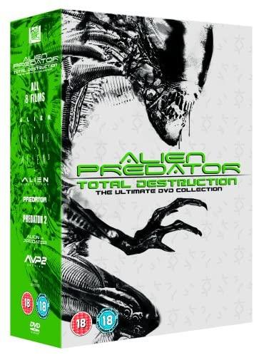 Alien Vs Predator: Total Destruction Collection DVD - 8 Films (used) £3.23 delivered with code @ World of Books